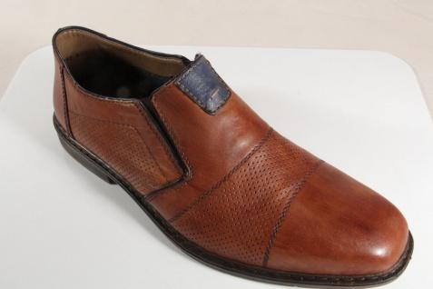 Rieker Herren Slipper Halbschuhe Sneaker braun Leder B1765 NEU!!