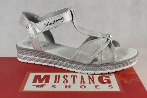 Mustang Mädchen Sandale Sandalen Sandalette Sandaletten silber 5052 Neu!