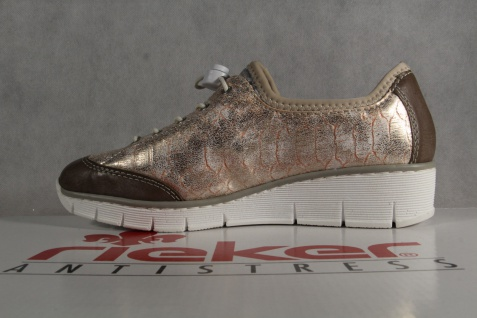 Rieker Sneakers, Damen Slipper Schnürschuhe, Halbschuhe, Sneakers, Rieker rose NEU! a7d051