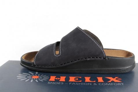 Helix Herren Pantoletten Clogs Pantolette Pantoffel schwarz/grau 54131 Leder NEU - Vorschau 3