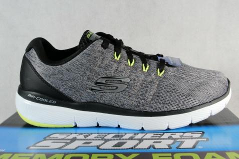 Skechers Herren Schnürschuhe Sneakers Sportschuhe grau NEU! - Vorschau 2