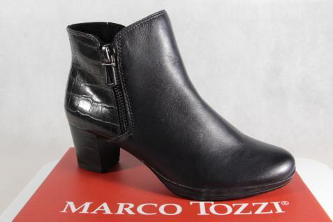 Marco Tozzi Stiefelette Stiefel Stiefeletten Leder anthrazit 25388 NEU!!