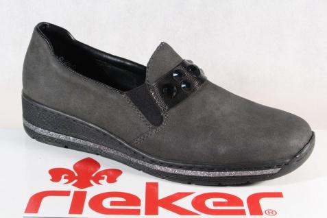 Rieker Damen Slipper Halbschuhe, Sneakers grau 589D4 NEU!