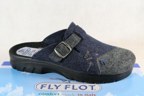 Fly Flot Herren Pantoffel Hausschuhe Clogs blau/grau NEU!!