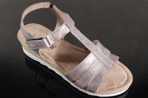 Jana Sandalen Sandaletten NEU!! mit Klettverschluß grau 28200 NEU!! Sandaletten 52c9e2