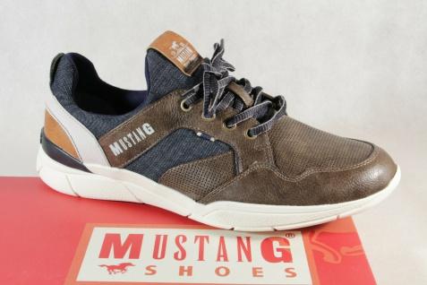 Mustang Slipper Schnürschuhe Sneakers Halbschuhe Sportschuhe braun 4138 NEU