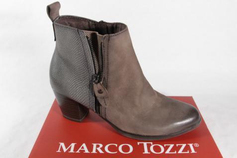 Marco Tozzi Stiefelette, Reißverschluß Stiefel, schlamm/grau, Reißverschluß Stiefelette, 25060 NEU! b7af33