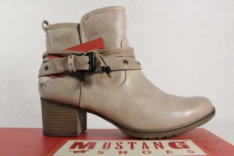 Mustang 1197 Damen Stiefel beige Stiefeletten mit Reißverschluss beige Stiefel NEU fd1cd6