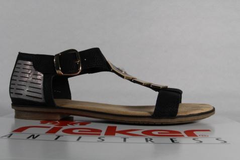 Rieker Sandalette Damen Sandale Sandalette Rieker schwarz, weiche Innensohle, NEU!! 5b2c28