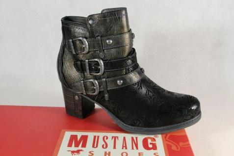 Mustang Stiefel Stiefeletten Schnürstiefel Boots schwarz 1286 NEU!