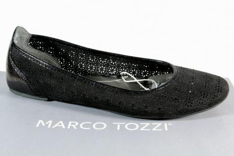 Marco Tozzi Ballerina Slipper Halbschuhe Pumps schwarz 22107 NEU!!