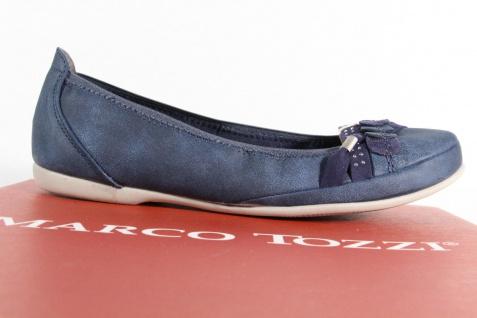 Marco Tozzi NEU!! Slipper Ballerina Pumps blau NEU!! Tozzi b6b80f