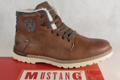 Mustang Stiefel Boots Schnürstiefel Winterstiefel Boots braun 4092 NEU !!