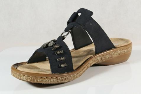 Details zu Rieker Damen Pantolette Hausschuh Sandale **NEU** (60885 00) Gr. 37 42
