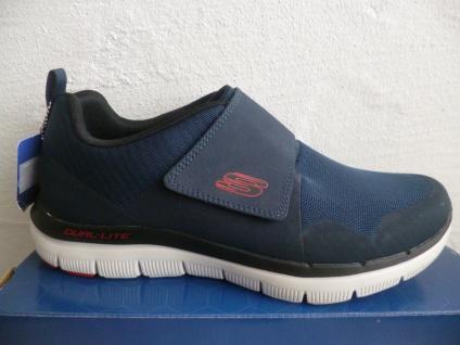 Skechers Herren Slipper blau Sneaker Sportschuhe mit Klettverschluss blau Slipper 52183 NEU! c12168