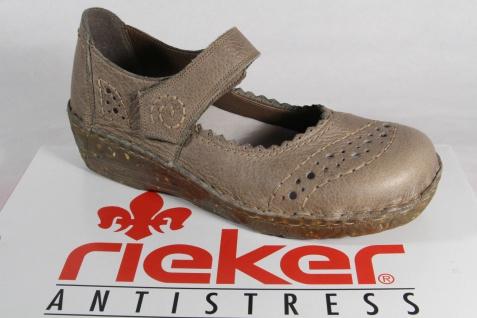 Rieker Slippers, Leder Ballerinas Leder Slippers, Lederinnensohle grün NEU 8eb0d1