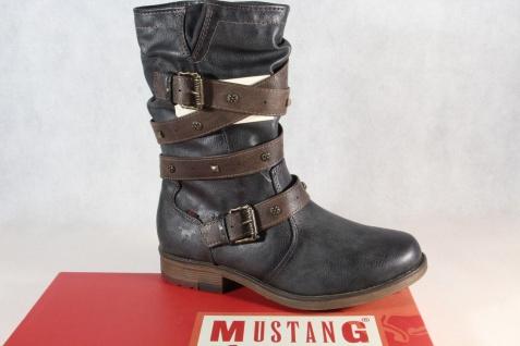Mustang Damen Stiefelette Stiefeletten Stiefel Winterstiefel grau 1295 NEU!!!