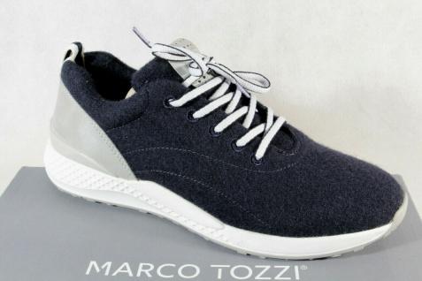 Marco Tozzi Damen Sneaker Schnürschuhe Halbschuhe blau 23780 NEU!