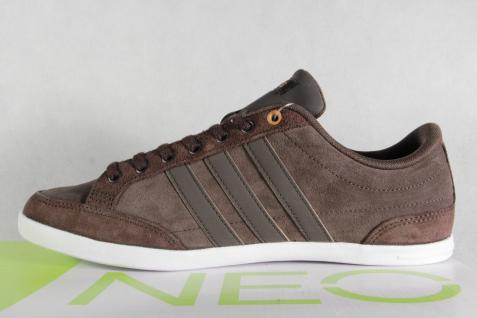 Adidas Schnürschuhe Sneakers braun Halbschuhe Sportschuhe CAFLAIRE Leder braun Sneakers NEU! e2010a