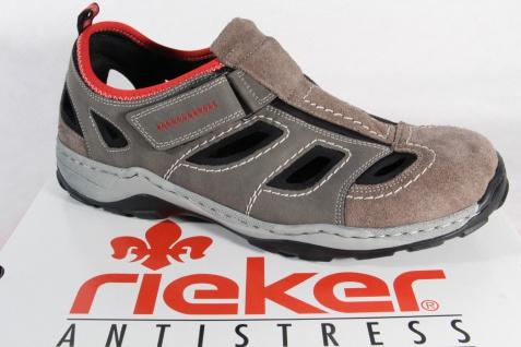 Rieker grau Slipper Sneakers Halbschuhe braun grau Rieker weiche Lederinnensohle NEU db0e2f