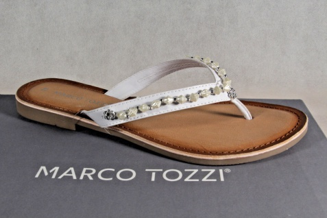 Marco weiß Tozzi Zehenstegpantoletten Pantoletten Sandalen weiß Marco NEU!! 7bd371