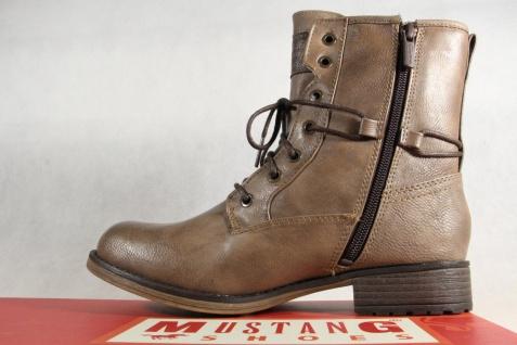 Mustang Stiefel 1139 Stiefeletten Schnürstiefel Stiefel taupe 1139 Stiefel NEU! c412c6