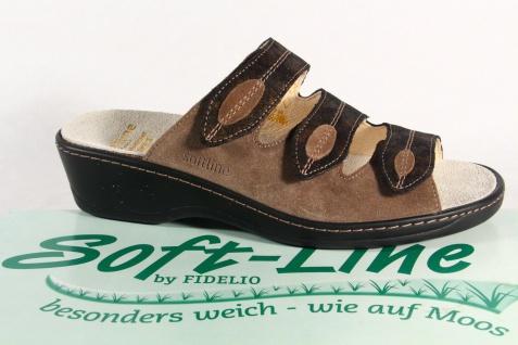 Fidelio Soft Line Damen Pantolette NEU! Pantoffel Echtleder NEU! Pantolette a84a76