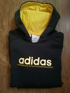 Adidas Jungen schwarz gelb Sweatshirt Sweater Pullover Pulli Sport NEU