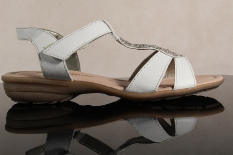 Remonte Lederfußbett Sandale Sandaletten D6747 weiß Lederfußbett Remonte Echtleder NEU! ecb0a0
