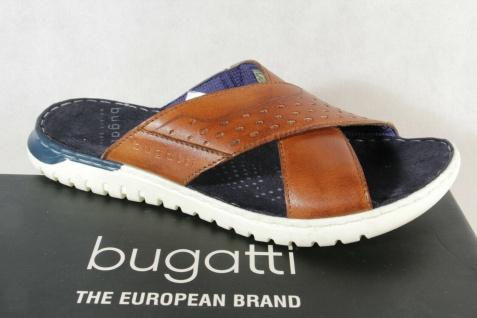 Bugatti Pantoletten Pantolette Pantoffel Hausschuhe braun Echtleder 70784 NEU!