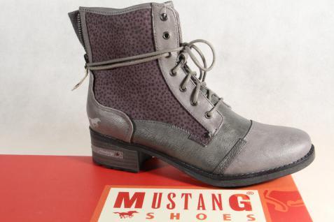 Mustang grau Stiefel Stiefeletten Schnürstiefel Stiefel grau Mustang 1229 NEU! 36fb2f