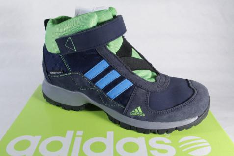 Adidas Stiefel Boots wasserdicht Leder/Textil blau/grün Climaproof NEU!