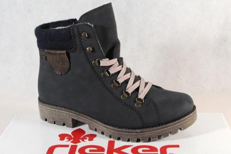 Rieker-Tex Schnürstiefel Boots Stiefelette Stiefel blau 758F8 NEU!