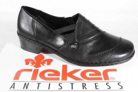 Rieker Slipper, Halbschuhe, Ballerina, schwarz Leder 48260 NEU