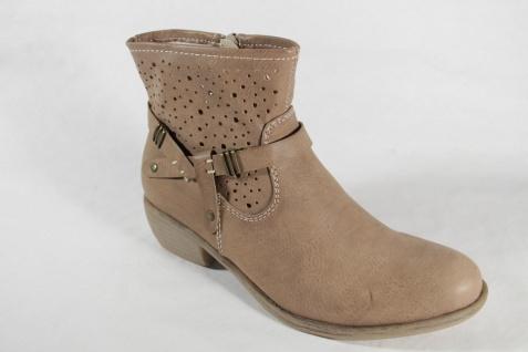 Rieker Stiefel Reißverschluß Stiefelette beige, modischer Sommerstiefel Reißverschluß Stiefel NEU 04bda1