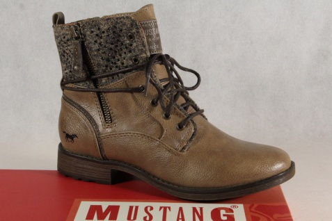 Mustang Stiefel Stiefel Stiefeletten Schnürstiefel Stiefel Mustang braun/ taupe 1265 NEU! 3a4679