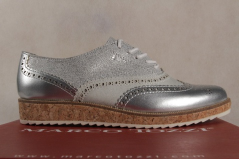 Marco Tozzi 23726 Schnürschuhe Sneakers Halbschuhe silber 23726 Tozzi NEU! c28d6a
