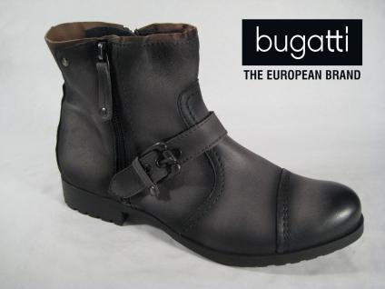 Bugatti Stiefelette grau weiches 961066 Leder, leicht gefüttert mit RV 961066 weiches NEU a61767