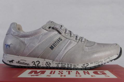 Mustang Slipper Sneakers Sneakers Sneakers Sportschuhe Halbschuhe Kunstleder grau NEU 02b374