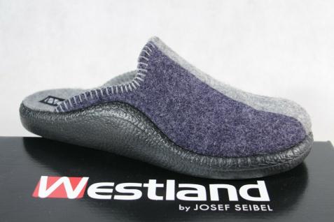 Westland by Josef Seibel Pantoffel Hausschuhe Hausschuh Softfilz blau NEU!!