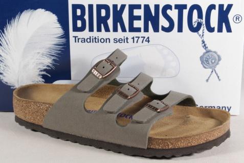 Birkenstock Pantolette Pantoletten Hausschuhe Pantoffel stone normale Weite NEU!