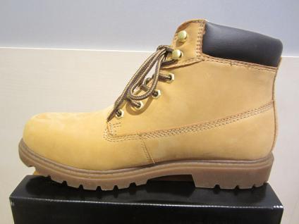 Dockers Stiefel Stiefel Schnürstiefel Stiefel Dockers gelb, Leder, Stofffutter NEU 6f00d5