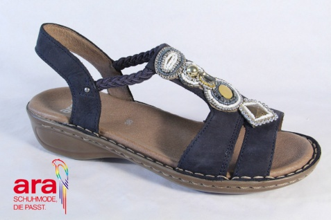 Ara Sandale Sandalette Leder, blau Gummizug Schuhe NEU! Beliebte Schuhe Gummizug e13e7b