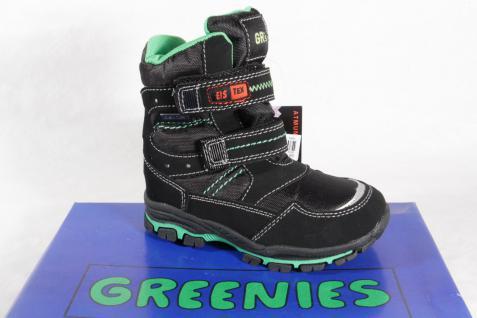 Greenies Knaben Tex Stiefel Boots Winterstiefel schwarz Tex 3SR1 NEU