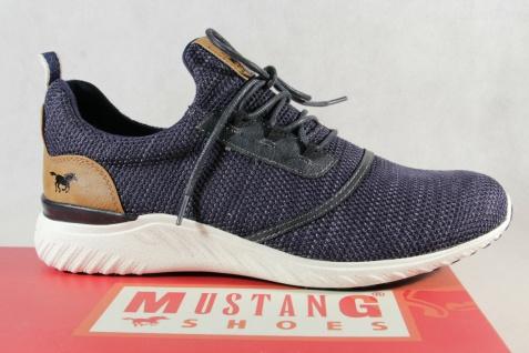 Mustang Slipper Schnürschuhe Sneakers Halbschuhe Sportschuhe blau 4132 NEU - Vorschau 2