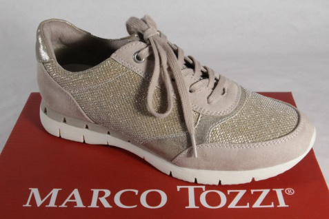 Marco Tozzi Schnürschuhe Sneakers Halbschuhe NEU! beige NEU! Halbschuhe 9a0c2a