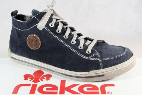Rieker Sneakers Stiefel Boots Schnürschuhe Schnürstiefel blau Echtleder NEU