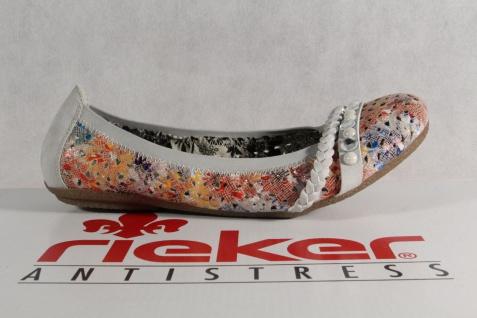 Rieker Ballerina grau/ 414458 Slipper grau/ Ballerina multcolor Gummisohle NEU 320879