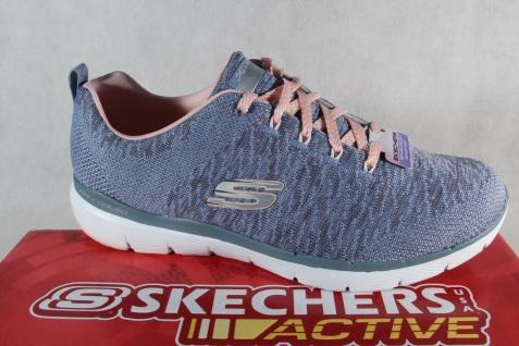 Skechers Sneakers Schnürschuhe Sportschuhe Air-Cooled Memory Foam blau NEU!