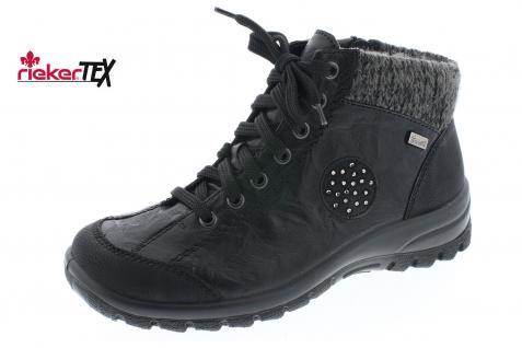 Rieker Stiefel L7110 Stiefelette Boots Winterstiefel Schnürstiefel schwarz NEU